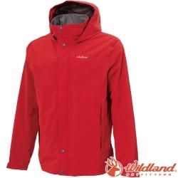 Wildland 荒野 W3912-08紅色 男單件式防水透氣外套
