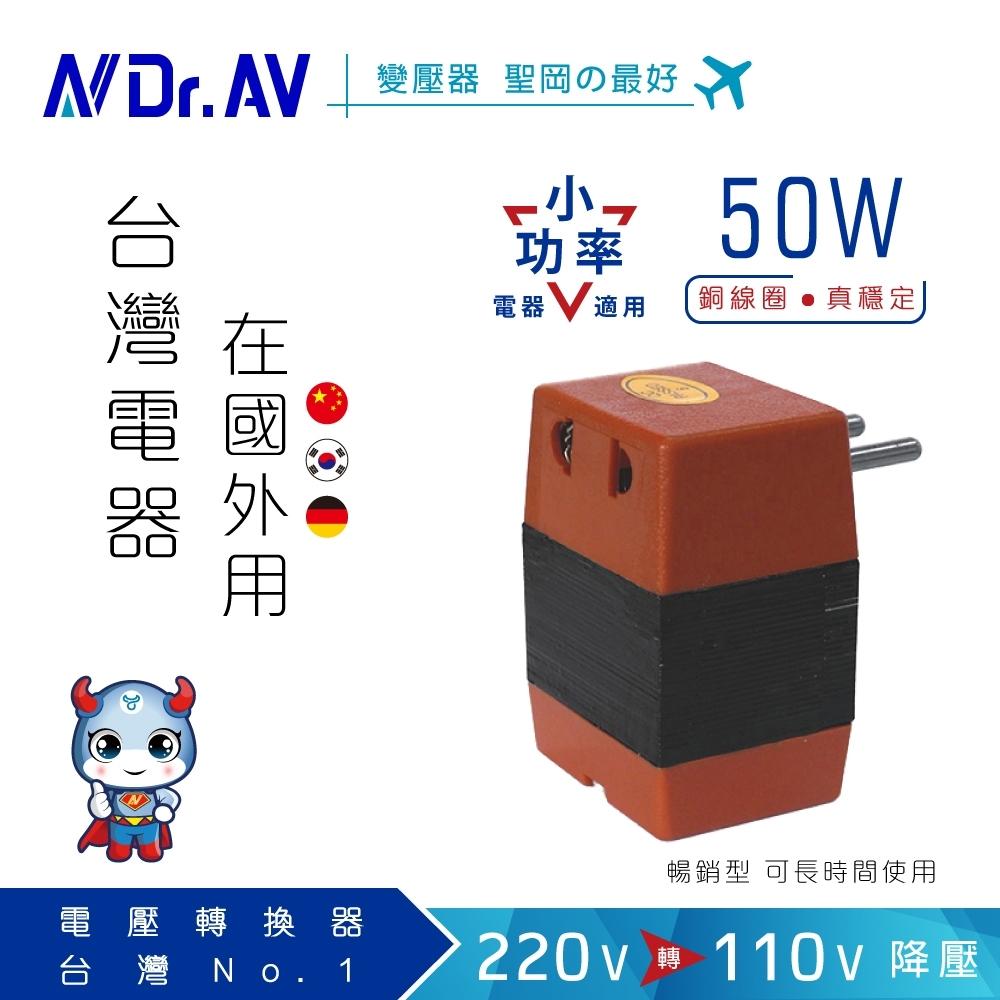 【N Dr.AV聖岡科技】SC-4000 220V變110V數位電壓變換器/50W(台灣電器國外用)