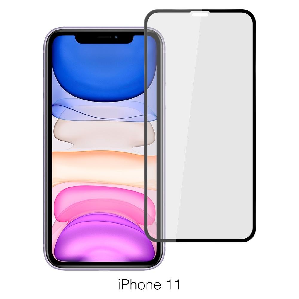 【Ayss】蘋果 Apple iPhone 11/6.1吋/平面滿版/鋼化玻璃保護貼膜-黑