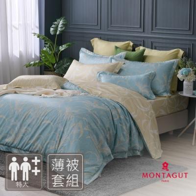 MONTAGUT-清雅冬芒-300織紗精梳棉薄被套床包組(特大)