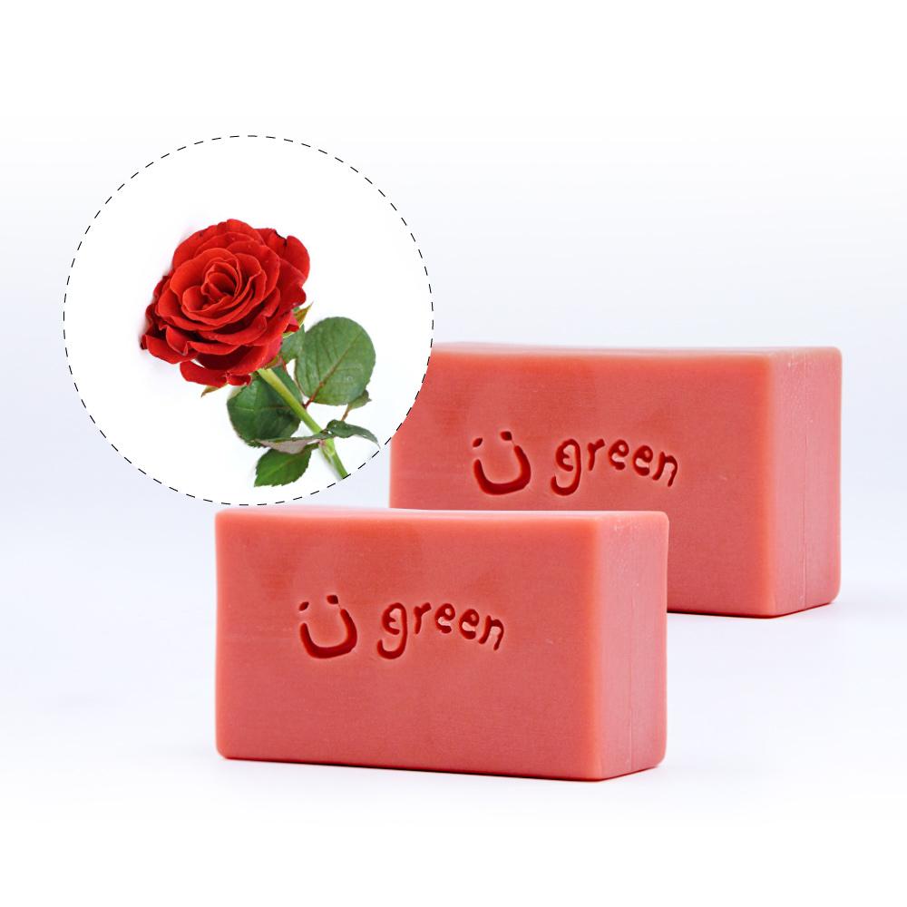 綠優園-天然植萃手工皂潤膚皂-玫瑰草礦泥二入裝