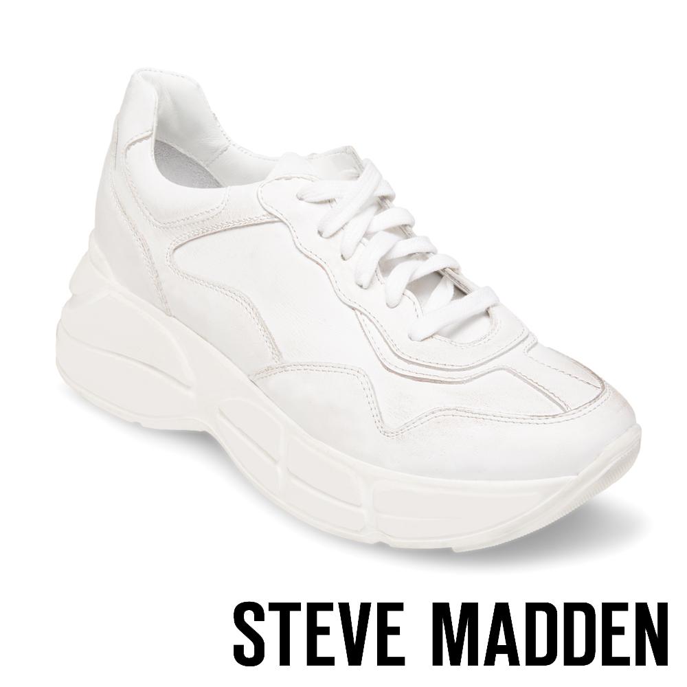 STEVE MADDEN-MEMORY潮流款拼接時尚老爹鞋-白色