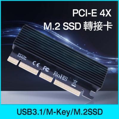 (送讀卡機) Esense PCI-E 4X M.2 SSD 轉接卡(07-EMS004)