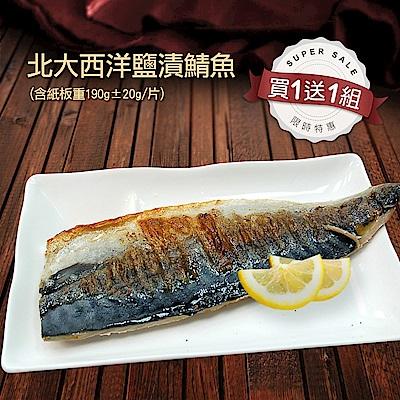 買1送1組-築地一番鮮-特大挪威薄鹽鯖魚10片(約190g/片)免運組