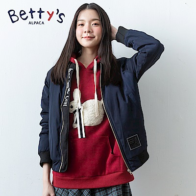 betty's貝蒂思 可愛兔子連帽內刷毛T-shirt(紅色) @ Y!購物