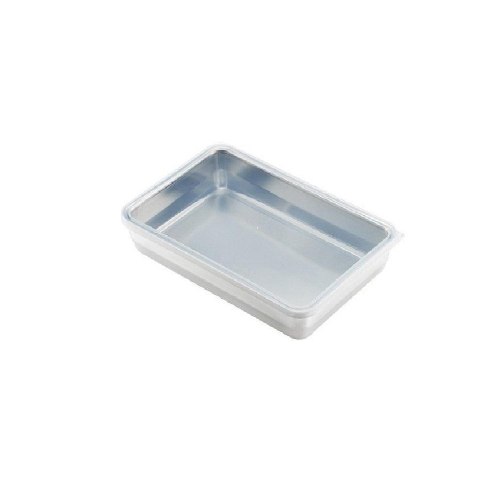 日本 吉川Yoshikawa透明蓋不鏽鋼保鮮盒 大/2250ml