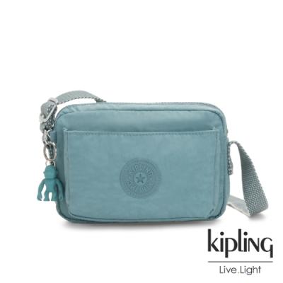 Kipling 冰霜綠前後加寬收納側背包-ABANU