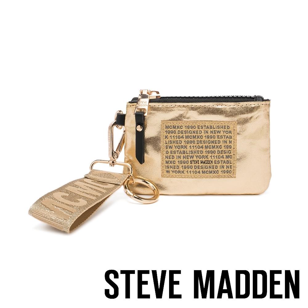 STEVE MADDEN-BRICHIE 時尚潮流款 字母零錢包-金色
