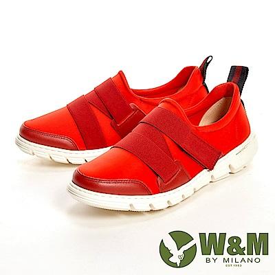 W&M 輕量透氣彈力帶休閒 女鞋-紅(另有黑、藍)