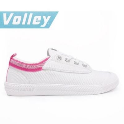 澳洲Volley 輕便休閒白鞋 情侶 男女款 白粉