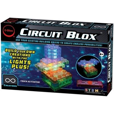 任選美國 E-Blox 發光積木觸控組 Circuit Blox Lights Plus CBL-002