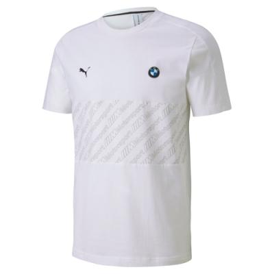 PUMA-男性BMW系列MMS T7短袖T恤-白色-歐規