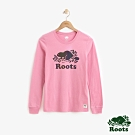 ROOTS 女裝- 反光海狸長袖T恤-粉紅色