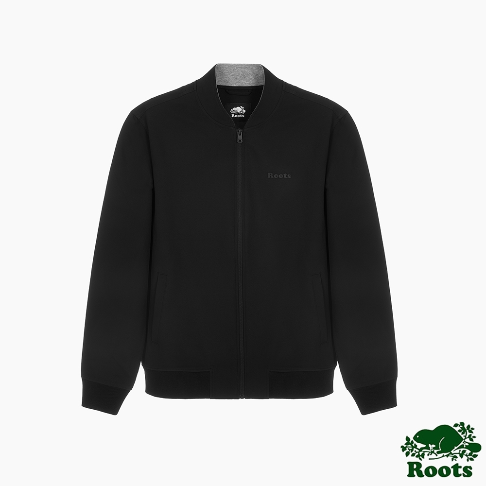 Roots男裝-城市悠遊系列 防潑水夾克外套-黑色