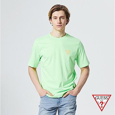 GUESS-男裝-撞色前後雙LOGO短T,T恤-薄荷綠 原價1390