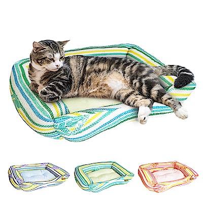 YSS 玉石冰雪纖維散熱冷涼感窩型寵物床墊/睡墊M(3色)