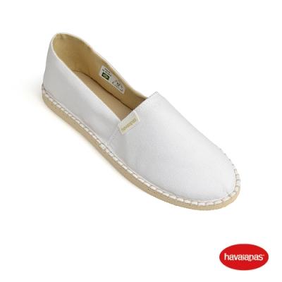 Havaianas 哈瓦仕 平底鞋 懶人鞋 休閒鞋  巴西 女鞋 白 4145542-0001L Espadrille平底鞋