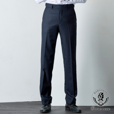 BARONECE 百諾禮士 低調格紋平面西褲_藍(619106-10)