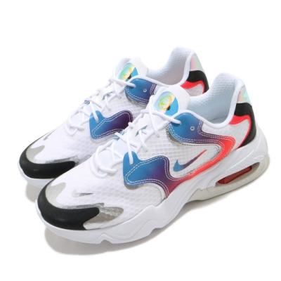 Nike 休閒鞋 Air Max 2X 運動 女鞋 氣墊 舒適 復古鞋型 穿搭 白 彩 DC0837190