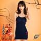 GIAT台灣製200D記憶熱機能美體發熱衣(細肩款)-午夜藍 product thumbnail 2