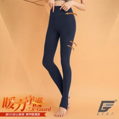 GIAT台灣製180D保暖內刷毛褲襪(踩腳款)-午夜藍