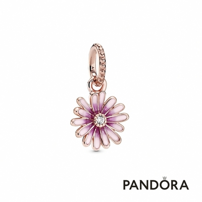 【Pandora官方直營】粉紅雛菊吊飾