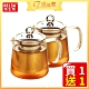 [買一送一] RELEA 物生物 幾何耐熱玻璃品茗泡茶壺550ML(附濾網) product thumbnail 2