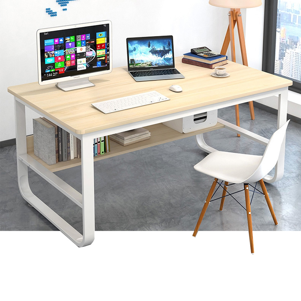 【Incare】高質感-鋼木多用收納工作電腦桌(100公分/3色可選) product image 1