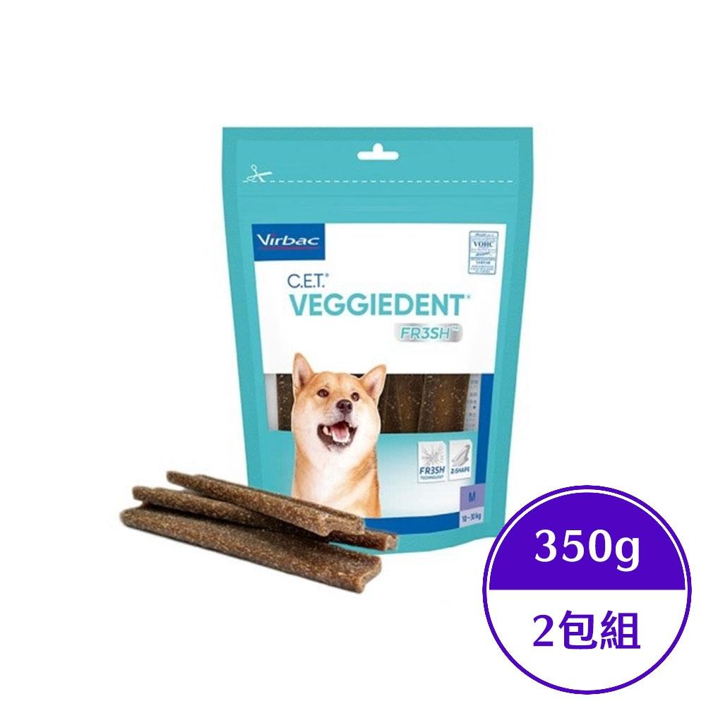 法國維克Virbac-C.E.T.@植物性潔齒嚼片 350公克-中型犬專用10-30公斤(兩包組)