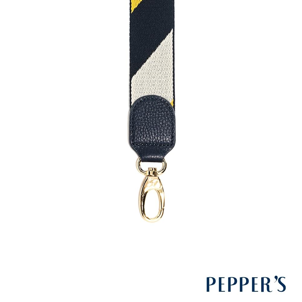 PEPPER`S Hope 編織背帶 - 黃藍白