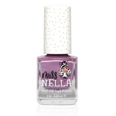 英國 【MISS NELLA】兒童水性可撕式安全指甲油 泡泡糖紫 MN02