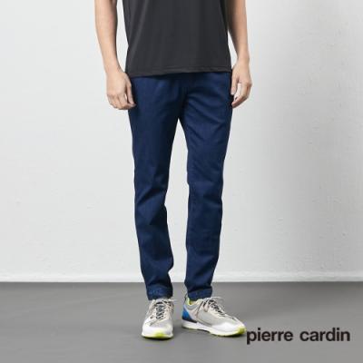 Pierre Cardin皮爾卡登 70週年 男裝鬆緊腰頭束口牛仔長褲-牛仔藍色(9207821-38)