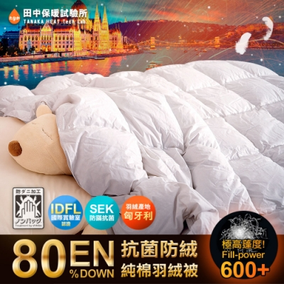 田中保暖 皇家匈牙利羽絨被FP600+ 1.2kg 6x7尺 立體隔間 中歐保暖聖品