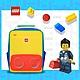 LEGO丹麥樂高經典中背包-紅黃藍撞色 20134-1948 product thumbnail 1
