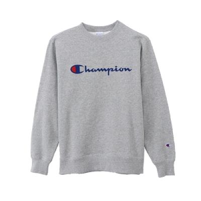 Champion Basic 草寫Logo內刷毛大學Tee 灰色