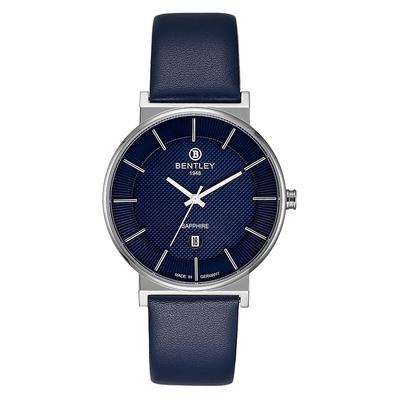 Bentley 賓利 ELITE系列 Gentle Glamour系列 簡約手錶-藍x銀/40mm