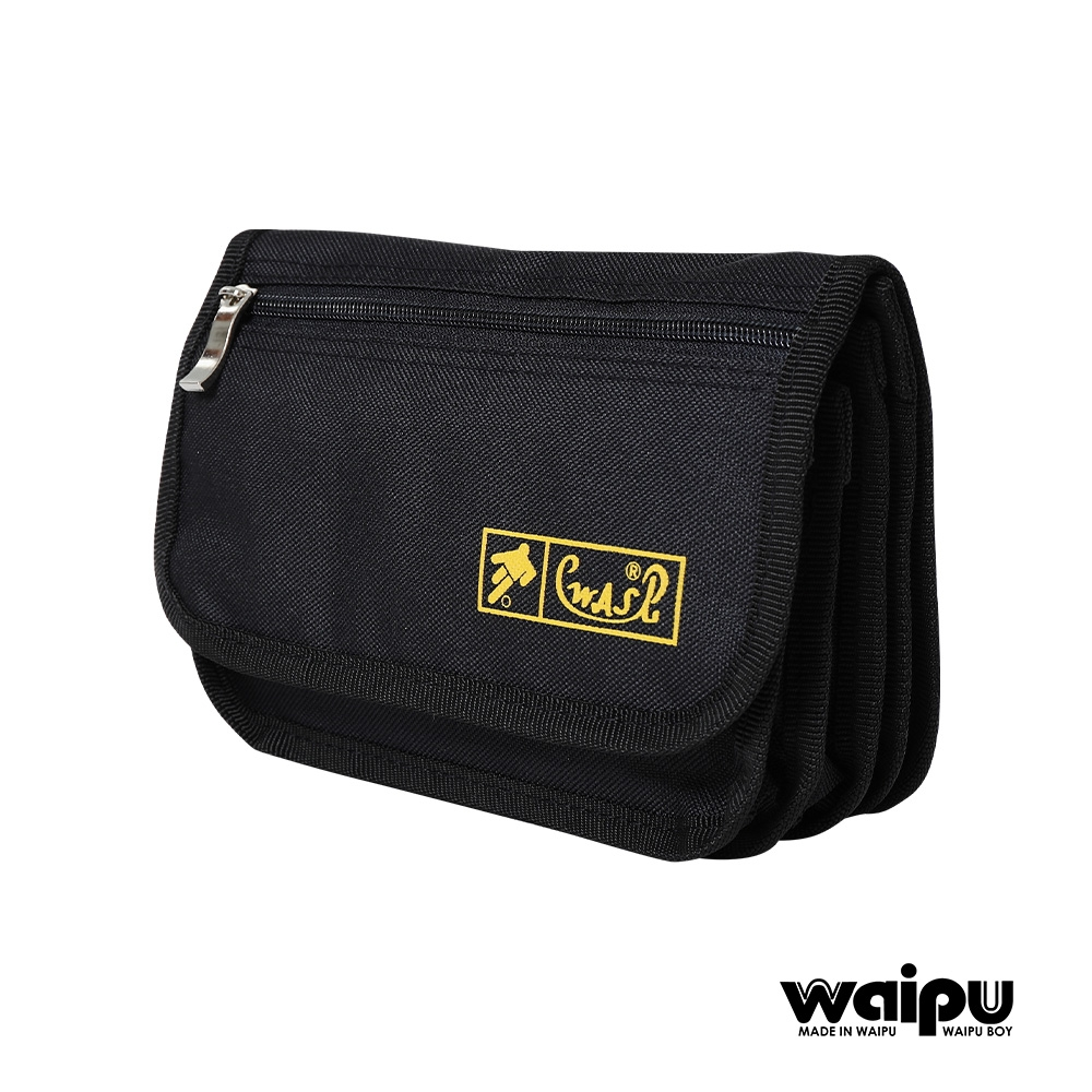 WAIPU 台灣製造輕量防潑水側背包防盜多層 可當腰包 6層設計可分類各幣別720R