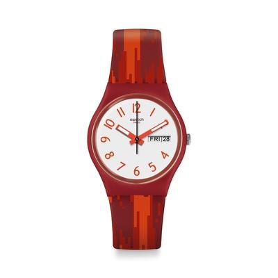 Swatch  I love your folk系列手錶 RED FLAME 火辣辣