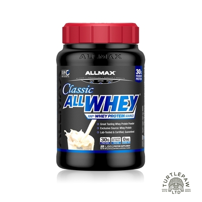 【ALLMAX】奧美仕乳清蛋白香草口味1瓶(907公克) 效期2022/08