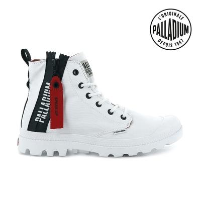 PALLADIUM PAMPA UNZIPPED拉鍊帆布靴-中性-白