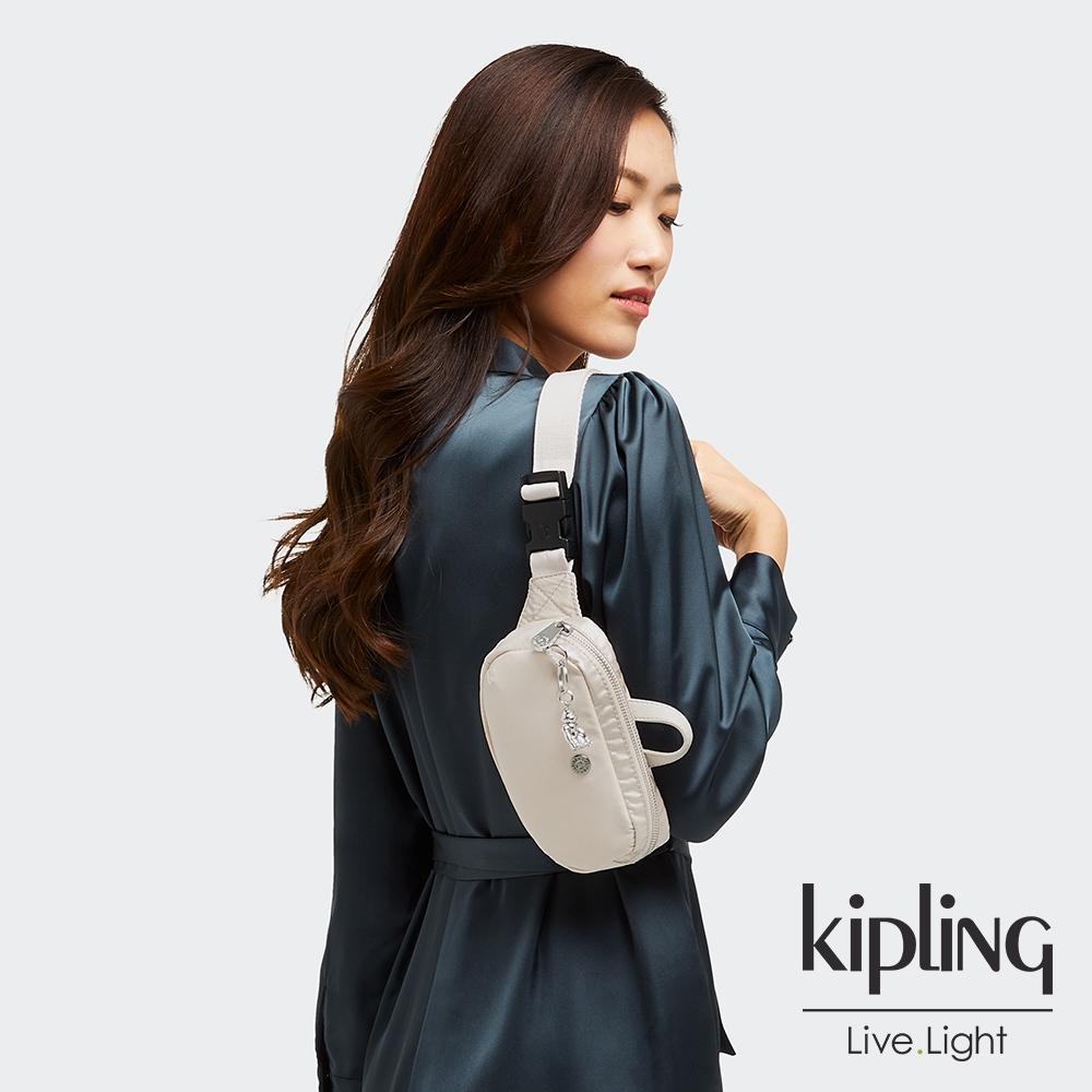 Kipling 雲朵象牙白簡約隨身手提腰包-ALYS