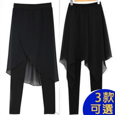 【韓國K.W.】(預購) 獨家下殺  韓國爆款假二件雪紡褲裙系列
