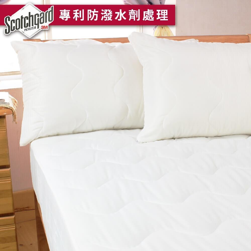 bedtime story專利3M防潑水床包式保潔墊-雙人5x6.2尺