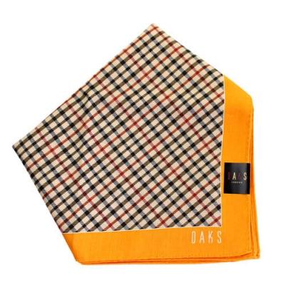 DAKS  經典斜格 大款帕領巾-駝黃色