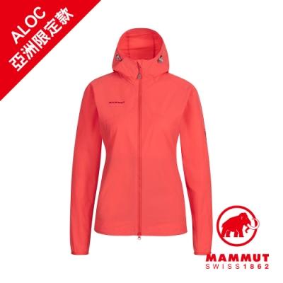 【Mammut 長毛象】GRANITE SO Hooded Jacket AF 防風防潑水軟殼外套 日落紅 女款 #1011-00331