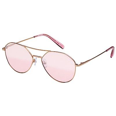 VEDI VERO 飛官款 水銀面 太陽眼鏡 (玫瑰金配粉)VE875