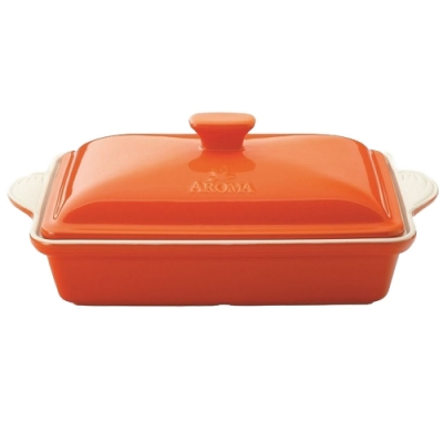 美國AROMA經典方形烤盤 陶瓷烤盤 -2800ml