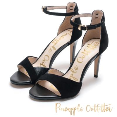 Pineapple Outfitter 絕對質感皮革高跟鞋-絨黑