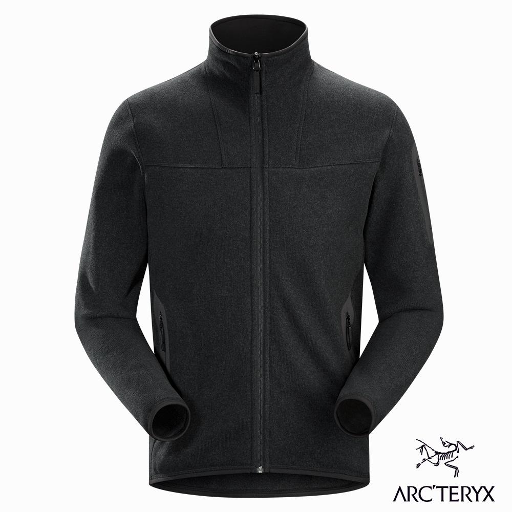 Arcteryx 男 Covert 立領 針織 刷毛保暖外套 黑灰
