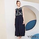【YIDIE衣蝶】菱形幾何印花假兩件連身褲